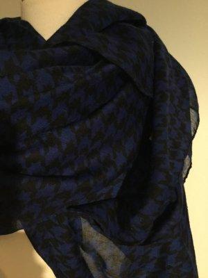 Hallhuber Écharpe ronde noir-bleu tissu mixte