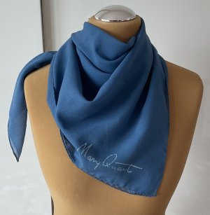 Tuch 70er Vintage MARY QUANT blau 90x90 sehr guter Zustand Rarität