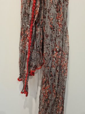 TCM Écharpe d'été gris-rouge