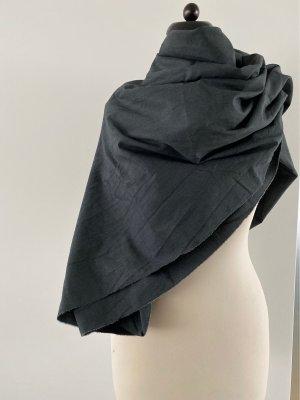 Terra di Siena Châle au tricot gris anthracite laine
