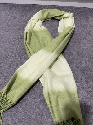 Sjaal van kasjmier lichtgroen-grijs-groen