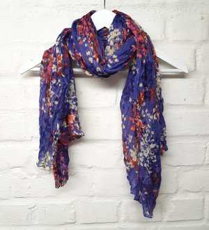 Tuch Blumenmuster Lila Lavendel Blau Orange Gelb H&M