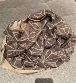 no name Neckerchief camel-dark grey
