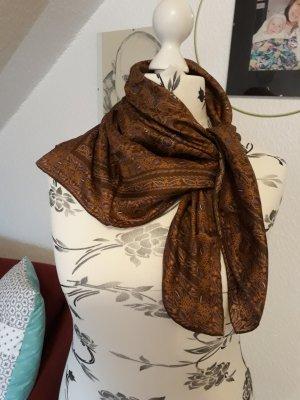 Jedwabny szal brązowy Tkanina z mieszanych włókien