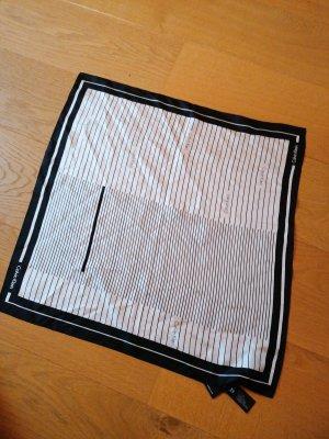 Calvin Klein Sciarpa di seta bianco-nero Seta