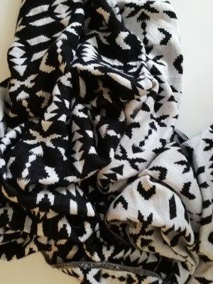 H&M Halsdoek wit-zwart Katoen