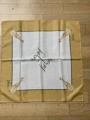 Dior parfums Foulard en soie blanc cassé-doré