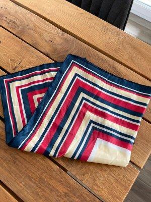 Pañuelo de bolsillo rojo claro-azul oscuro tejido mezclado