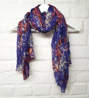 Tuch geblümt Lila Lavendel Blau Orange H&M