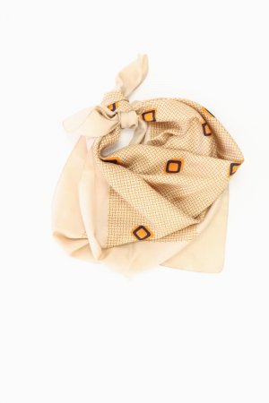 Summer Scarf gold-colored polyester