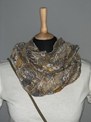 Tube Scarf light brown-grey brown