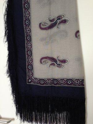 Sisley Châle au tricot multicolore