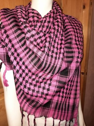unknown Shemagh magenta-noir coton