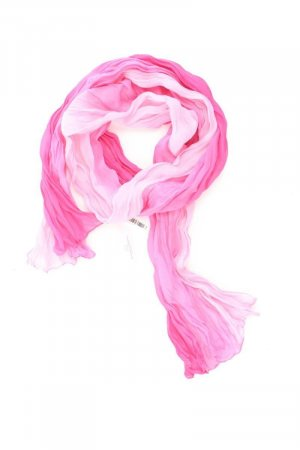 Zomersjaal lichtroze-roze-roze-neonroos