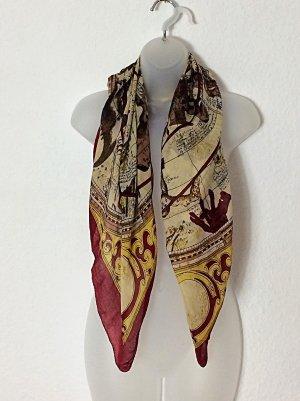 Tuch reine Seide Halstuch Turbantuch Turban Trendfarben Vintage
