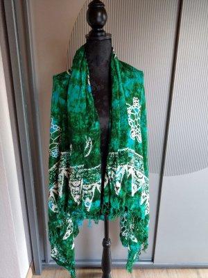 Tuch Rock Kleid grün weiß