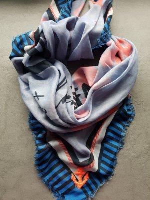 Tuch/Schal blau bunt