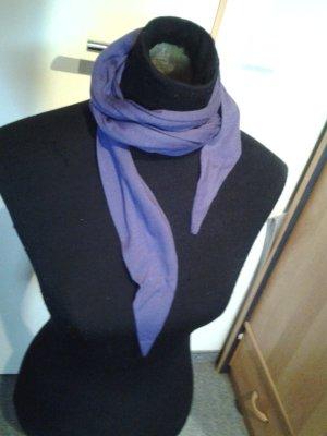 Tuch/Schal - dünn - lila - schräge Enden