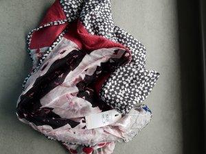 Tuch Schal Loop  Bordeaux schwarz Rosa