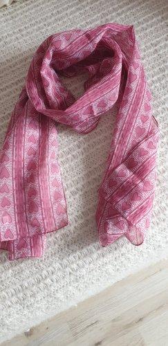 Tuch, Schal mit Herzmuster