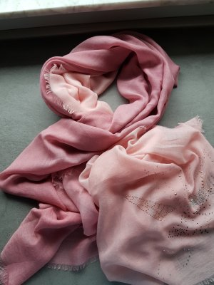 Cartoon Woolen Scarf pink