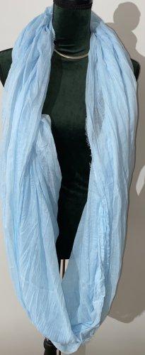 Écharpe ronde bleu clair-bleu azur