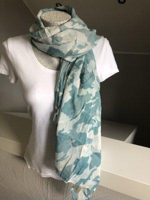 Foulard blanc cassé-bleu cadet