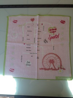 Traditional Scarf pink-green