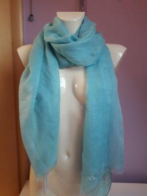 Codello Sjaal met franjes lichtblauw