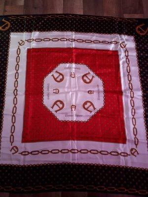 Etienne Aigner Panno di seta nero-rosso mattone