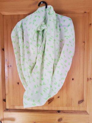 Pieches Komin zawijany biały-zielony neonowy