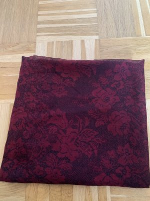 Public Shoulder Scarf bordeaux-dark red