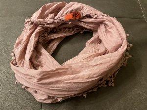 s. Oliver (QS designed) Bufanda de flecos color rosa dorado