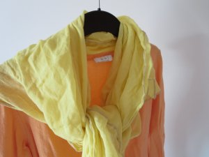 Marc O'Polo Chal veraniego amarillo claro tejido mezclado