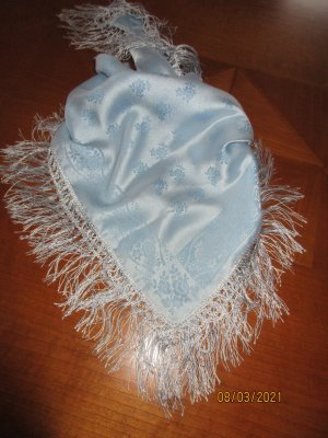 Traditional Scarf azure