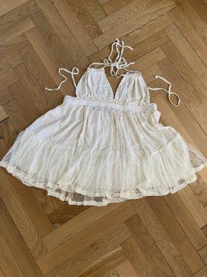 Cut Out Dress cream