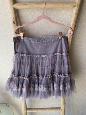 R 867 Tiulowa spódnica Wielokolorowy