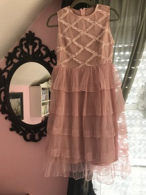 Flounce Dress dusky pink-pink