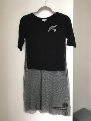 Reserved Camicia a tunica nero-argento