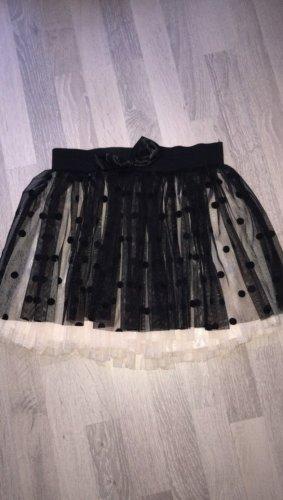 Falda de tul negro-rosa