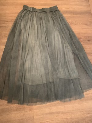 Taffeta Skirt green grey-khaki