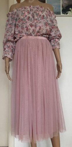 Lace & Beads Jupe en tulle rosé