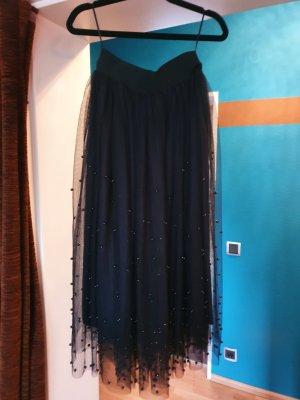 New Look Tiulowa spódnica czarny