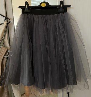 Unbekannte Marke Tiulowa spódnica czarny-antracyt