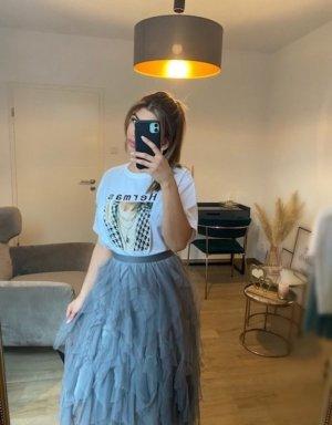 Boutique Comtesse Tulle Skirt light grey