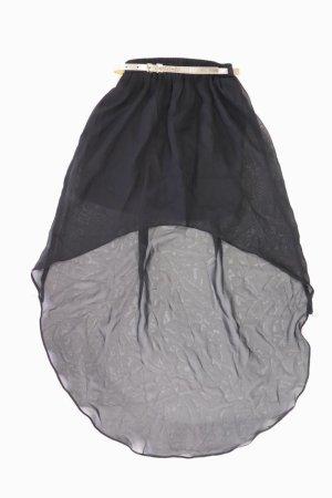 Tiulowa spódnica czarny Poliester