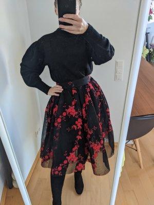 Maje Tiulowa spódnica czarny