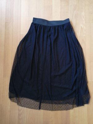 Stradivarius Tulle Skirt black