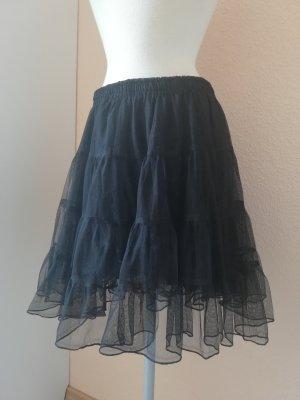 Tüllrock Petticoat schwarz Gr. freesize onesize 36 38 40 42 S M L neu gothic metal punk