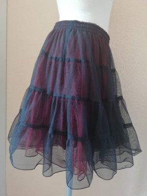 Tüllrock Petticoat schwarz rot Gr. freesize onesize 36 38 40 S M L neu gothic metal